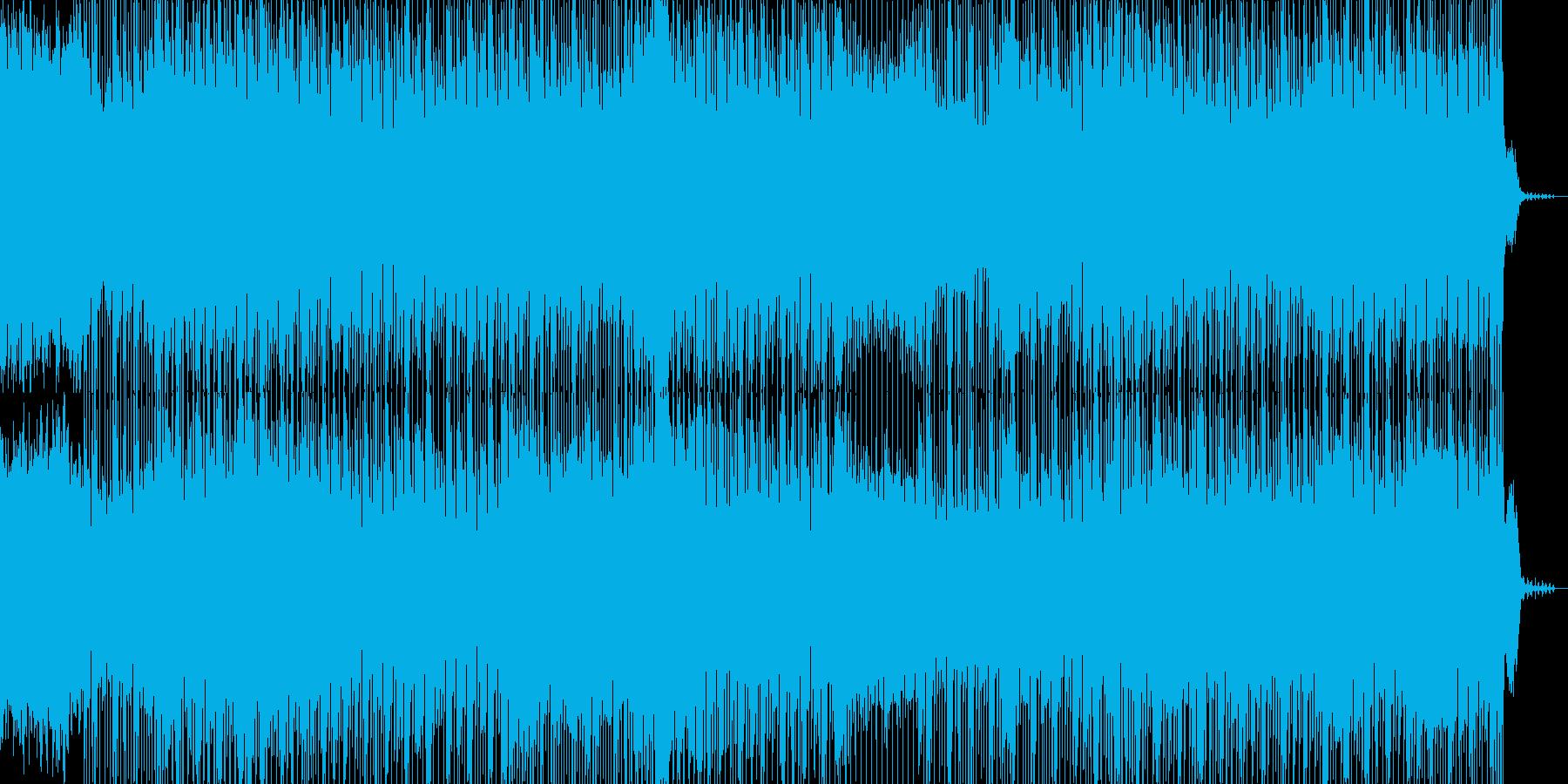 印象的なリフと軽快なリズムのBGMの再生済みの波形