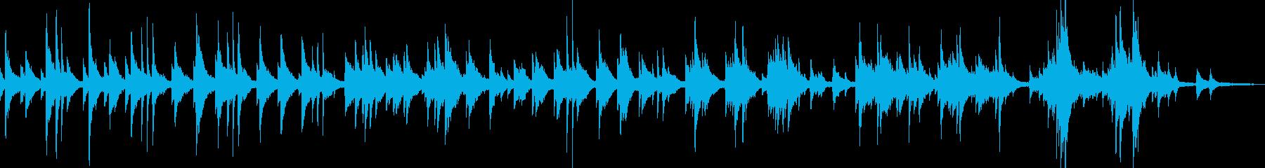 ゆったりとしたテンポのピアノソロ曲の再生済みの波形