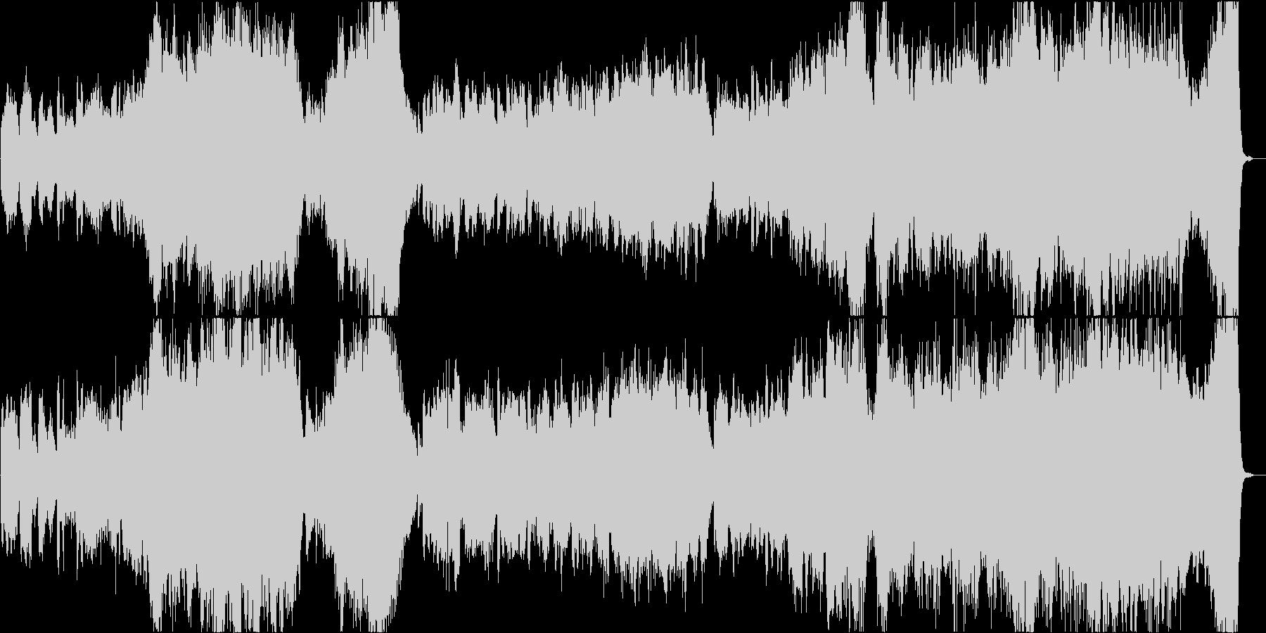 壮大で感動的なトランペットバラードの未再生の波形