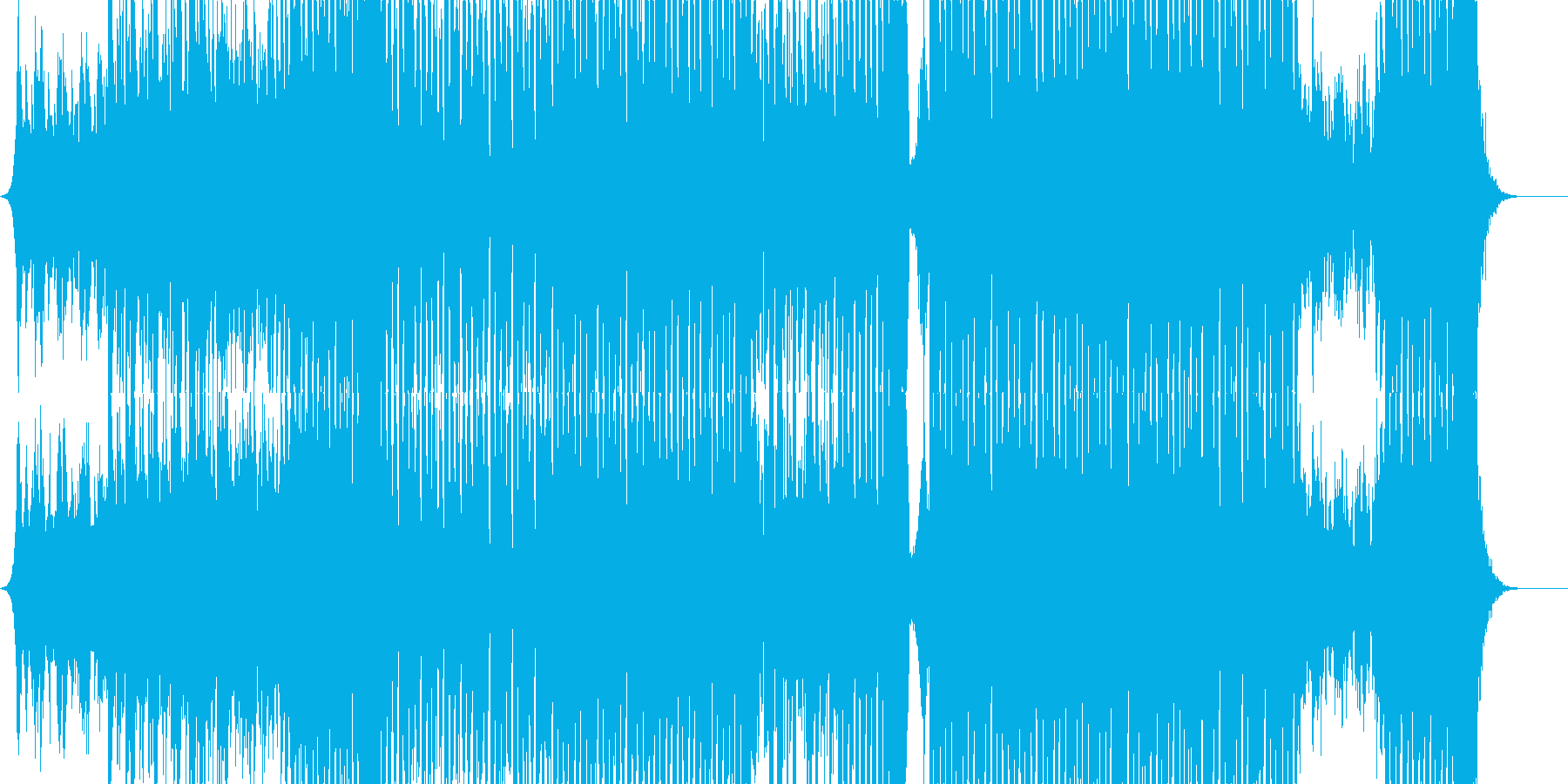 キラキラKpop系のトラック/四つ打ちの再生済みの波形