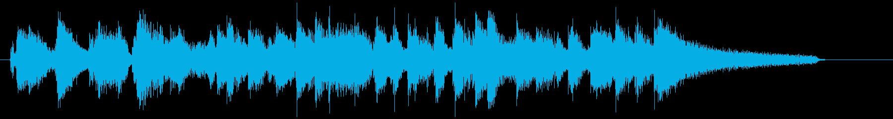 ギターとピアノのクールなジャズジングルの再生済みの波形