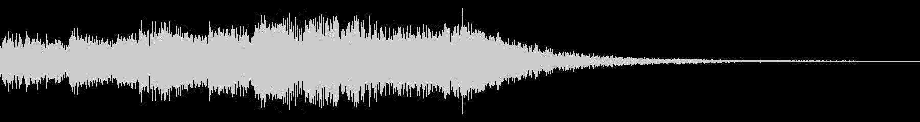 マリンバ&シンセのサウンドロゴ/ジングルの未再生の波形