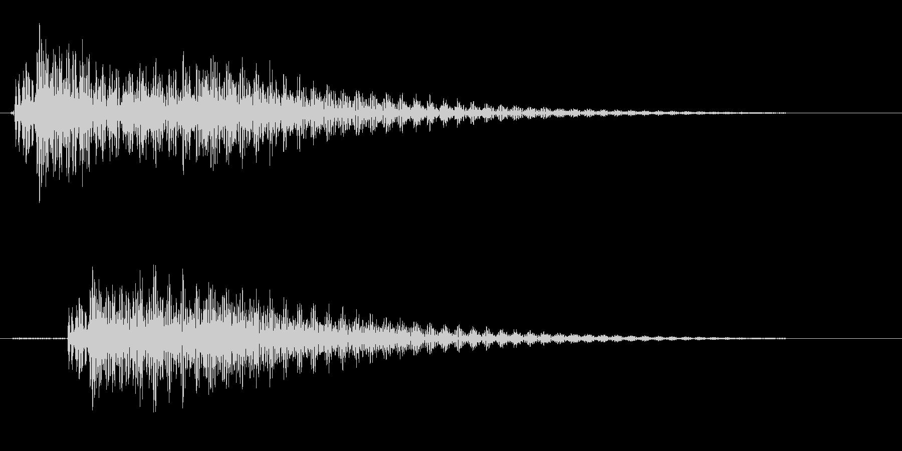 ポロン(ギターの音)の未再生の波形