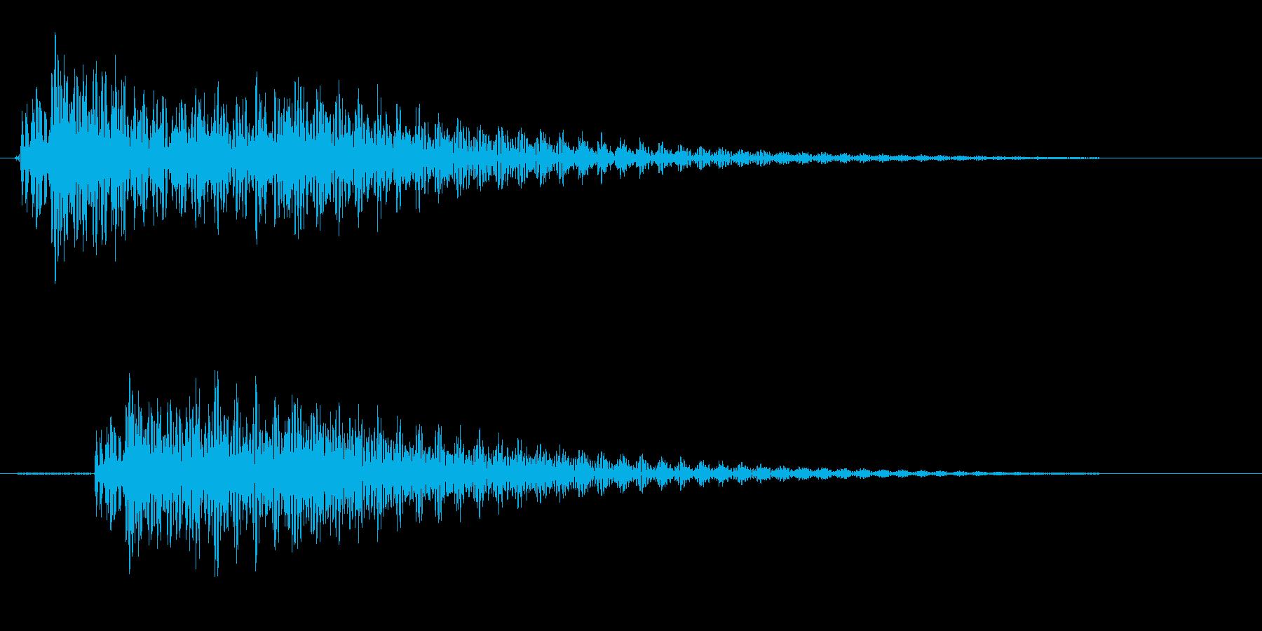 ポロン(ギターの音)の再生済みの波形