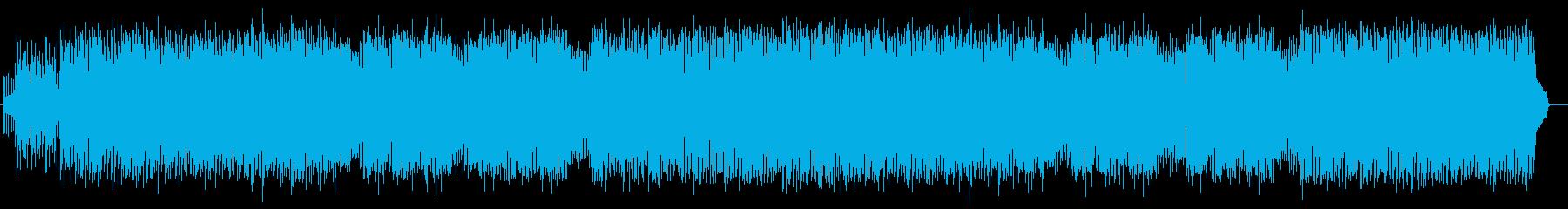 軽快でリズミカルなテクノポップの再生済みの波形