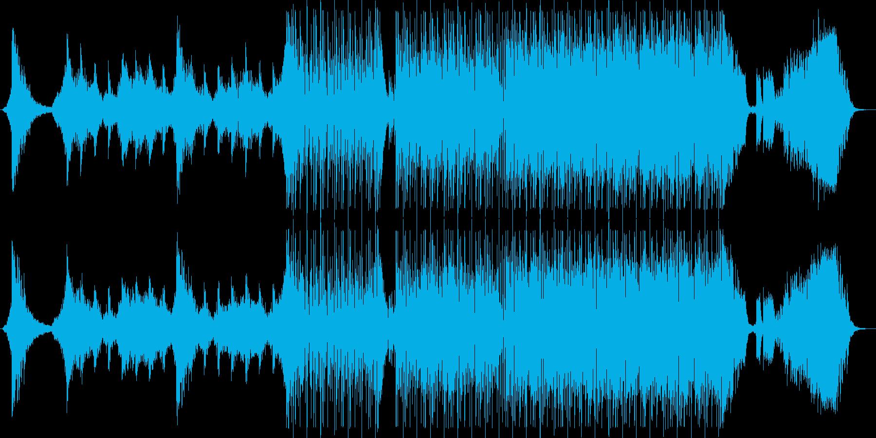 鬼気迫るベースミュージックの再生済みの波形