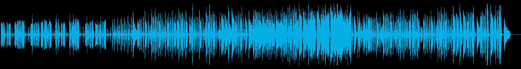 ピアノ、リコーダー、おもちゃの可愛い音楽の再生済みの波形