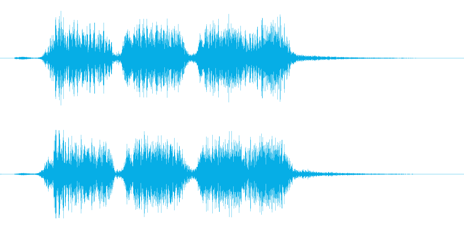 YouTubeジングル【パターンB】の再生済みの波形