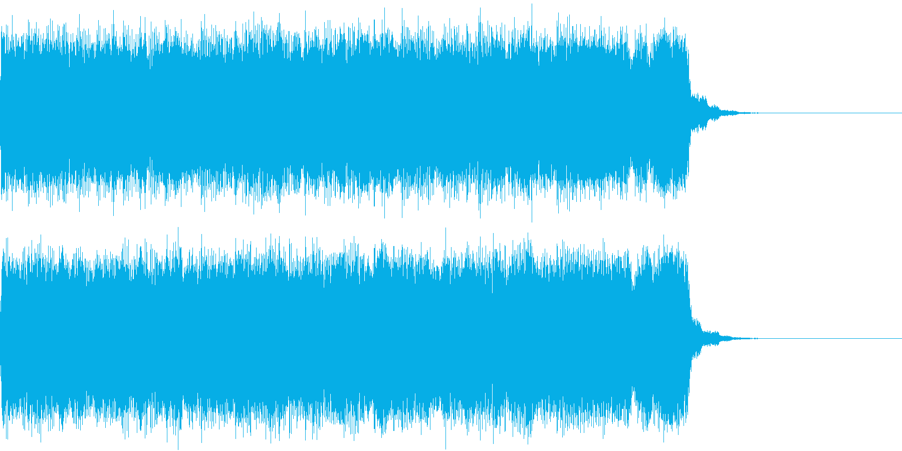 メタル 悪魔 ジングルの再生済みの波形