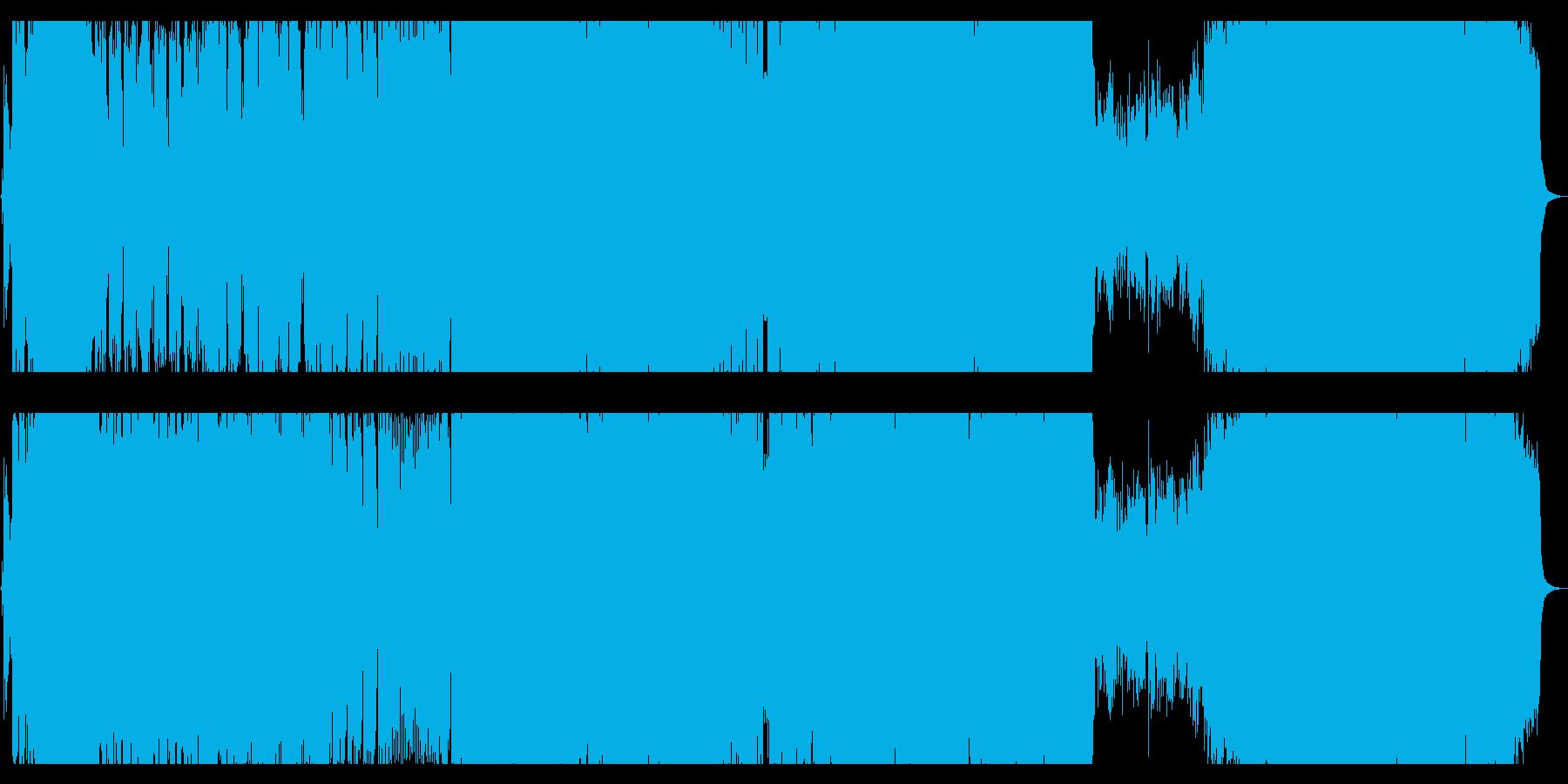 アニメ映画の主題歌のような疾走感のある歌の再生済みの波形