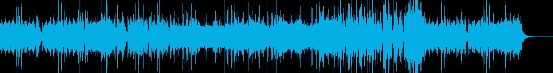 雄大な自然を思わせるヒーリング曲の再生済みの波形