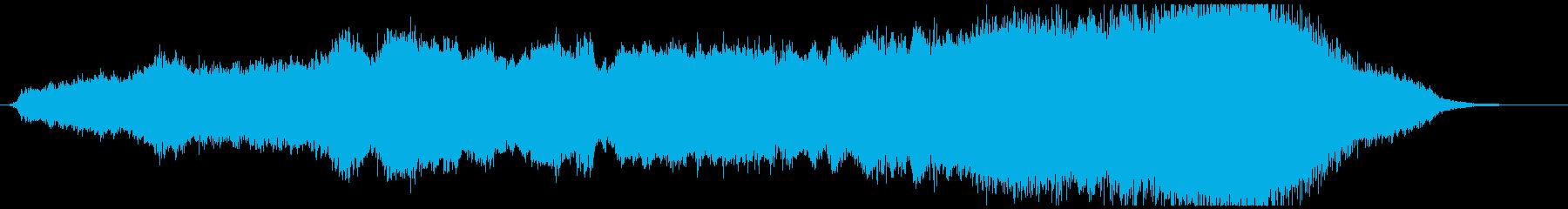近未来・SF系のOP、序章っぽいBGMの再生済みの波形