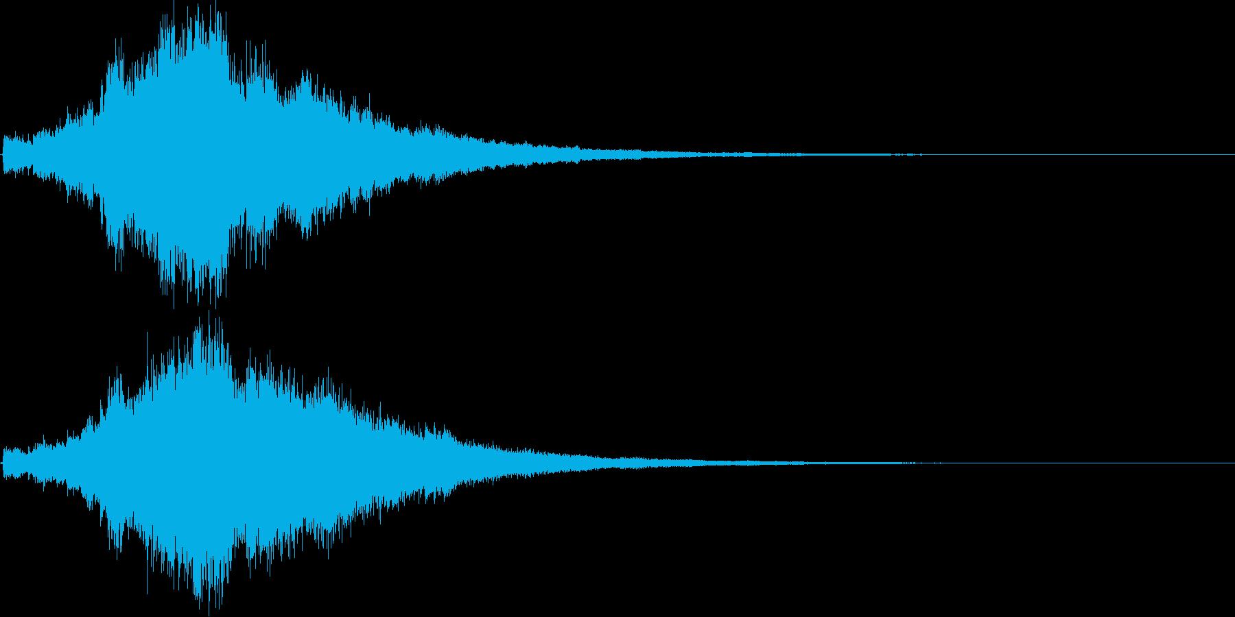 キラキラ&ボイスクリア,達成,回復等2Bの再生済みの波形