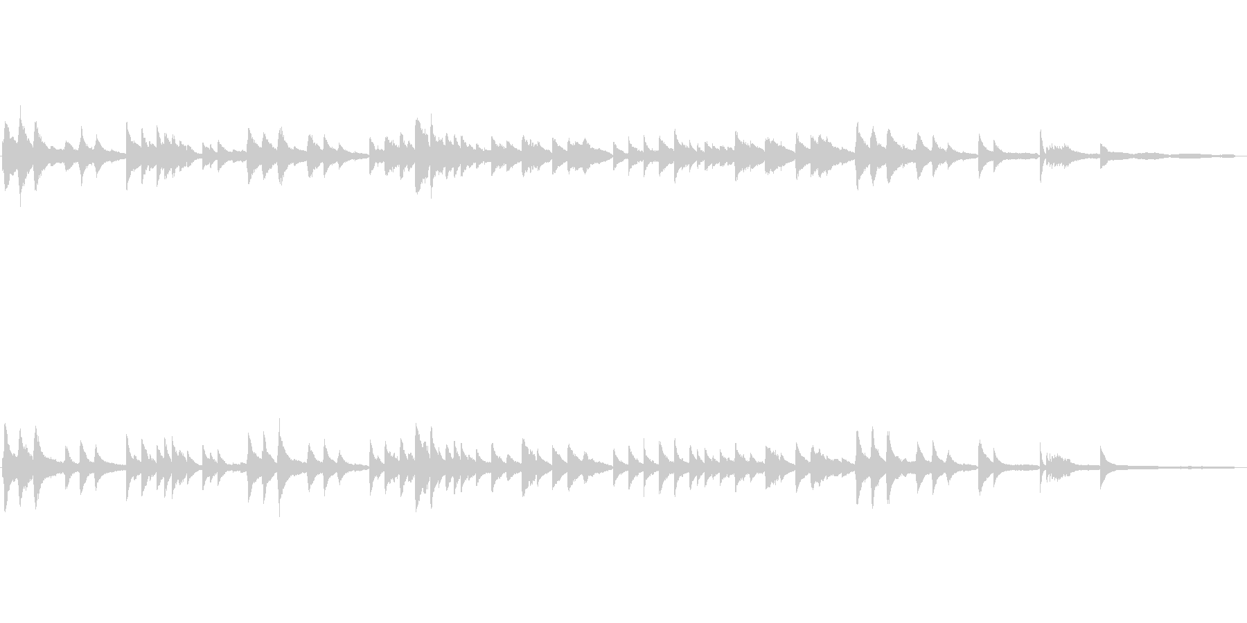 日本古謡|さくらさくら|ピアノ伴奏の未再生の波形
