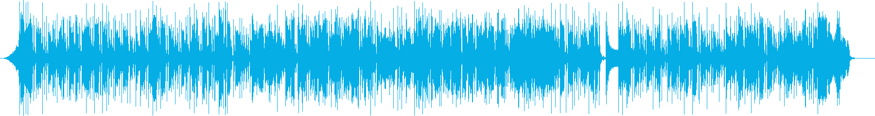 ファンキーなスラップベースの再生済みの波形