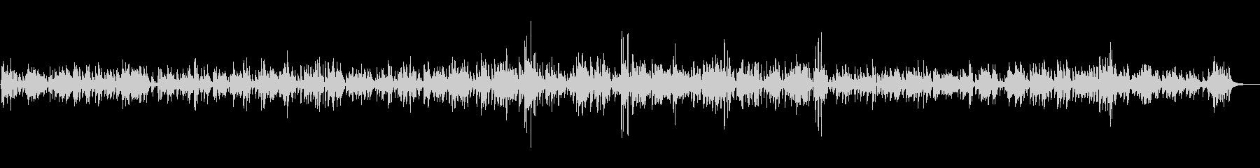 ラウンジ・バーで流れる上品なジャズBGMの未再生の波形