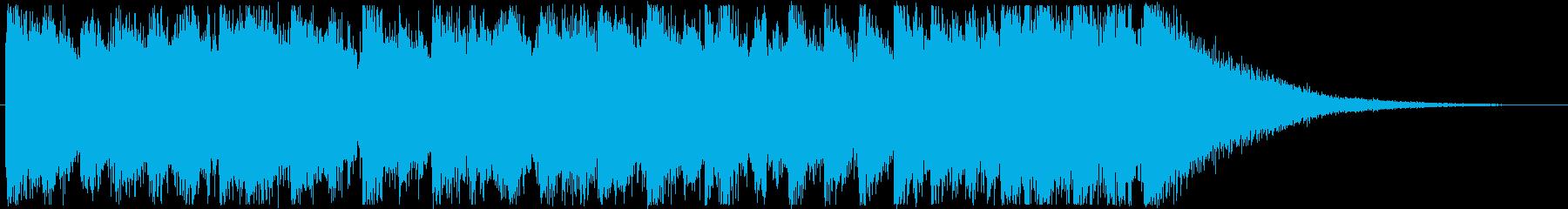 映像・ジングル・楽しいファンク・12秒の再生済みの波形