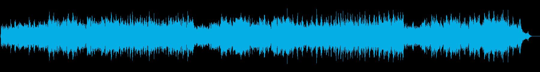 優しい大自然の温かいアンビ系α波BGの再生済みの波形