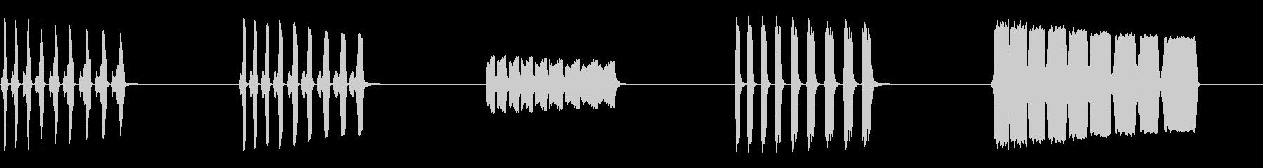 漫画-がっかりしたトランペット-5...の未再生の波形