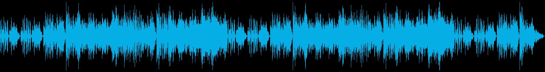 カフェで流れてそうなボサノバ風BGMの再生済みの波形