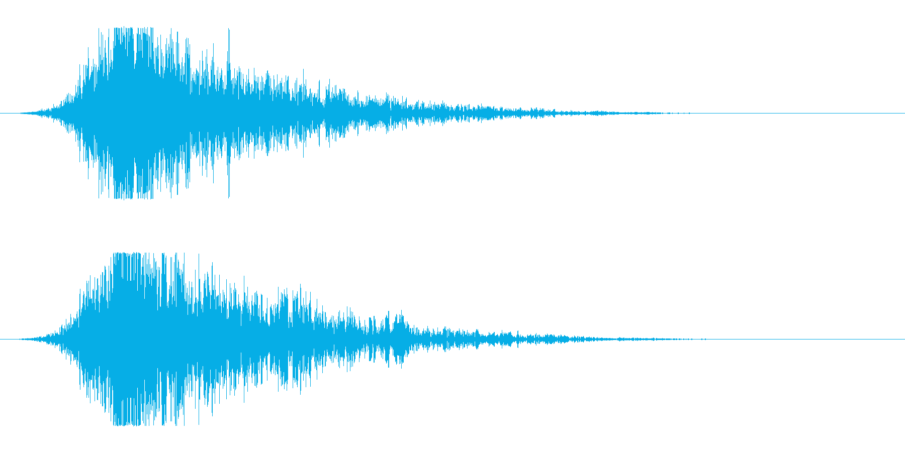 シュードーン-14(インパクト音)の再生済みの波形