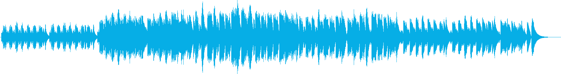 眠る赤ちゃんをイメージした可愛らしい曲の再生済みの波形