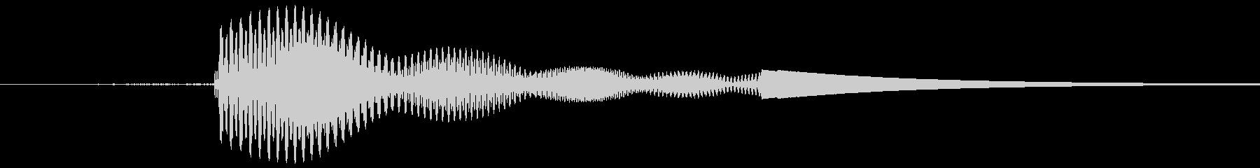 カーソルボタン音(決定音)「プイッ」の未再生の波形