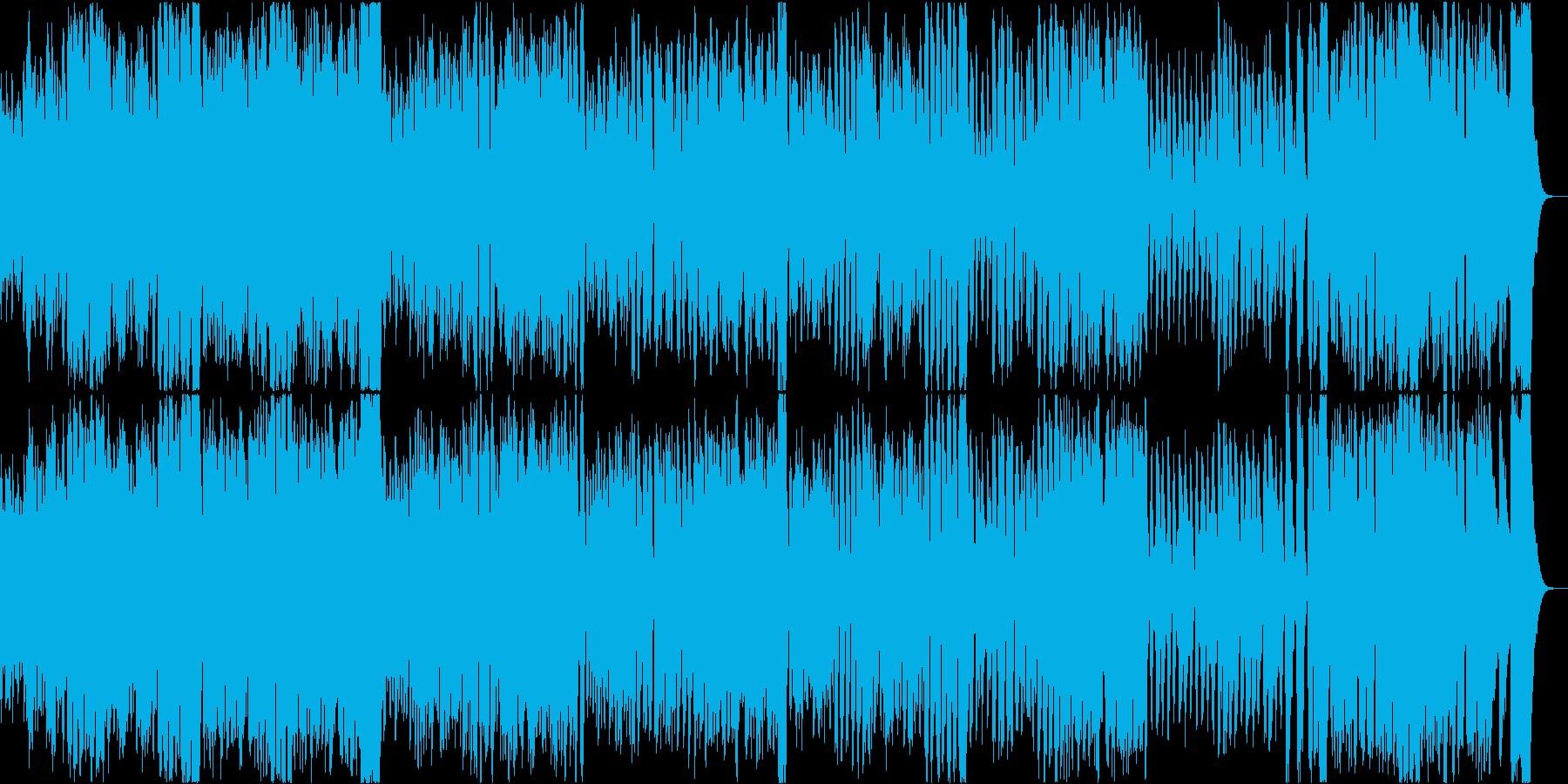 幸せでのんきな弾むオーケストラ序曲の再生済みの波形