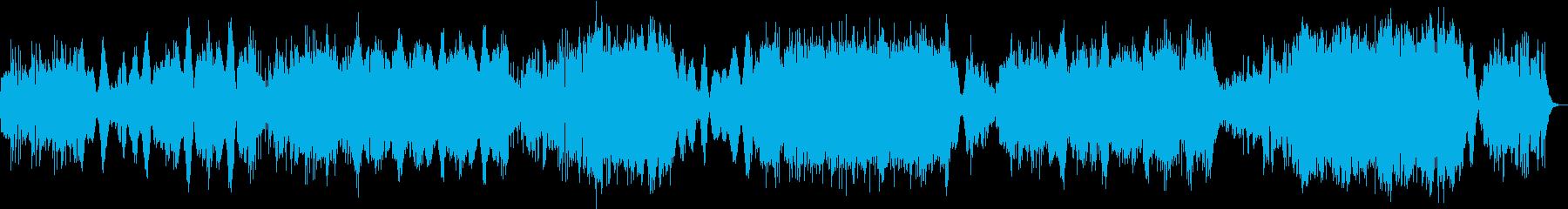 疾走感のある管弦曲の再生済みの波形