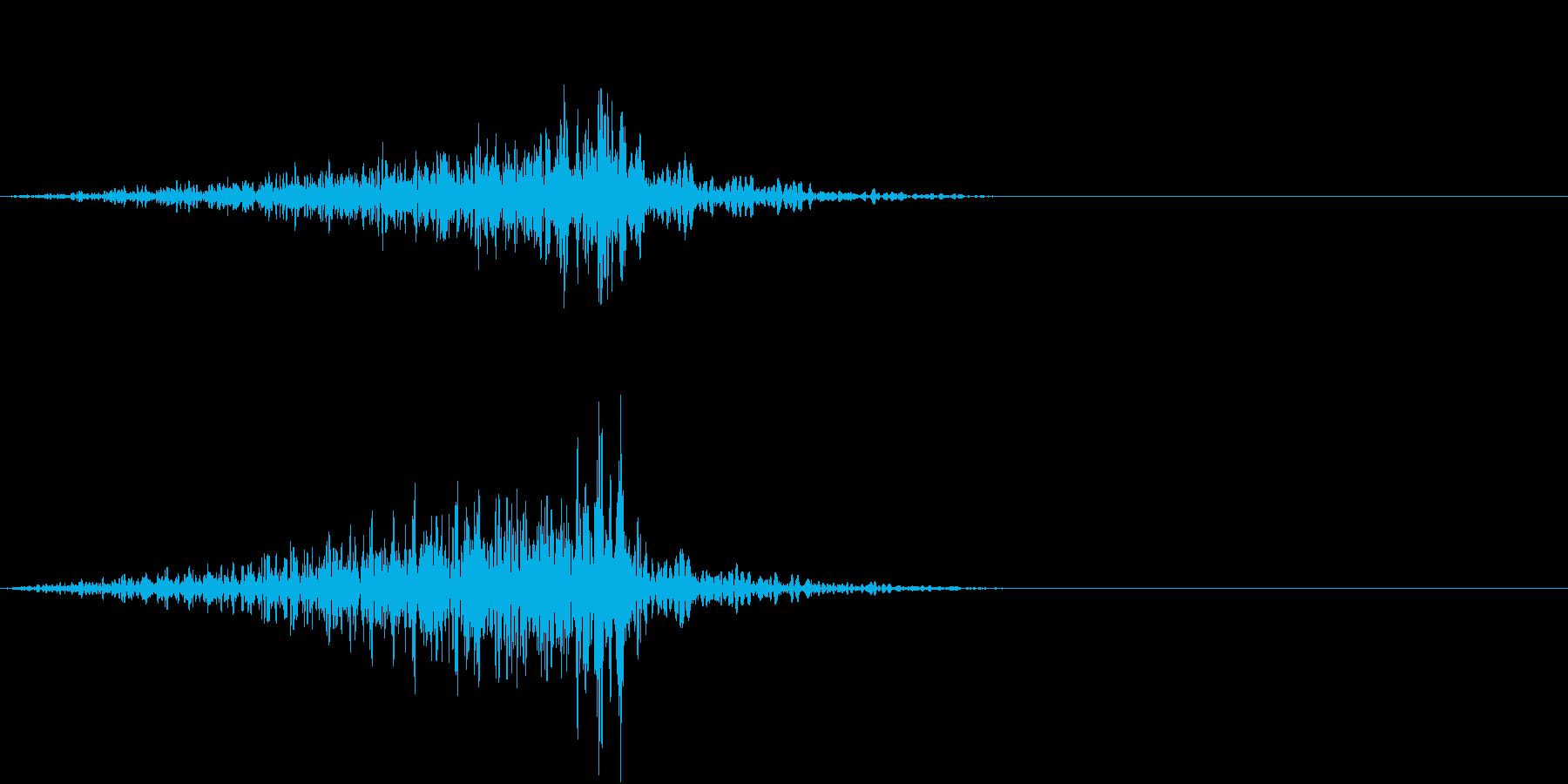 物が通り過ぎる音の再生済みの波形