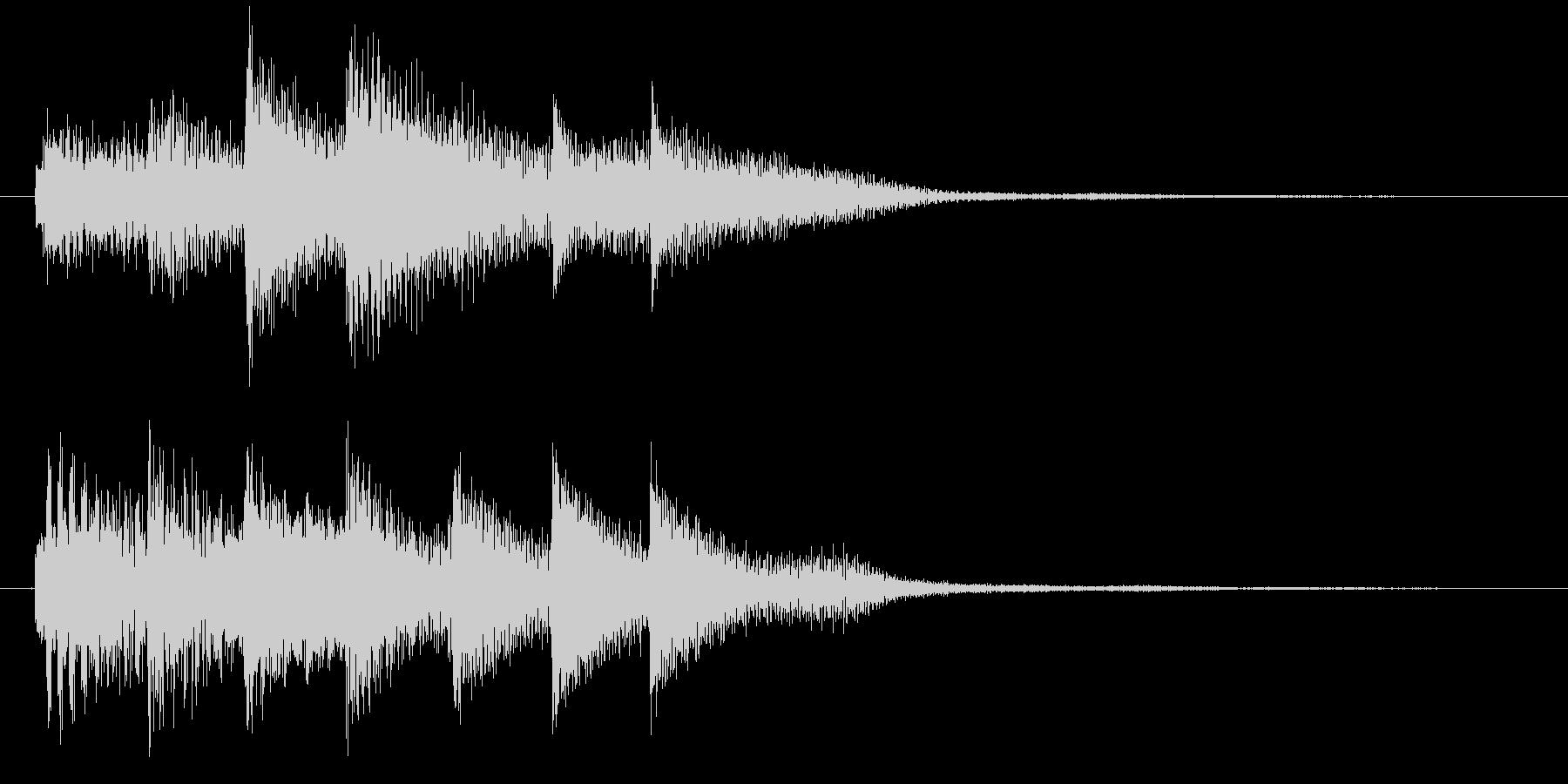 ピアノ転回音1の未再生の波形