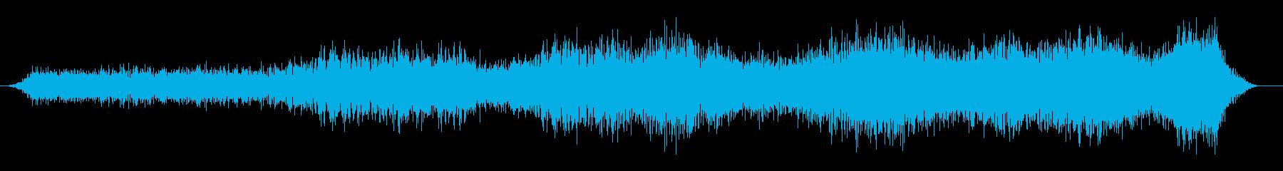 上向き昇順の再生済みの波形