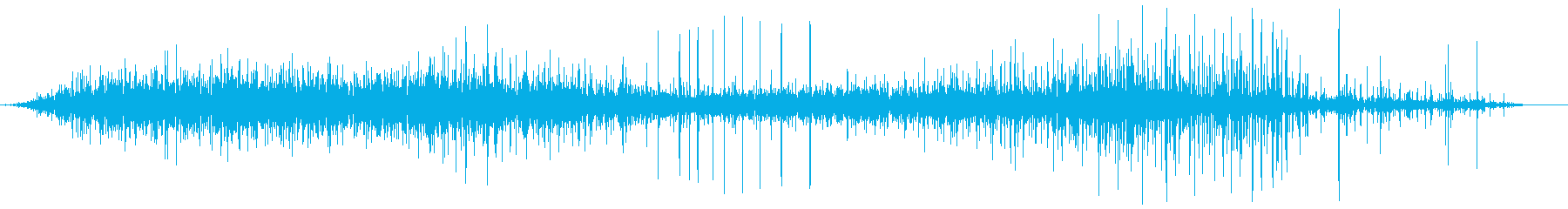 ジュー(熱いものが当たった音)の再生済みの波形