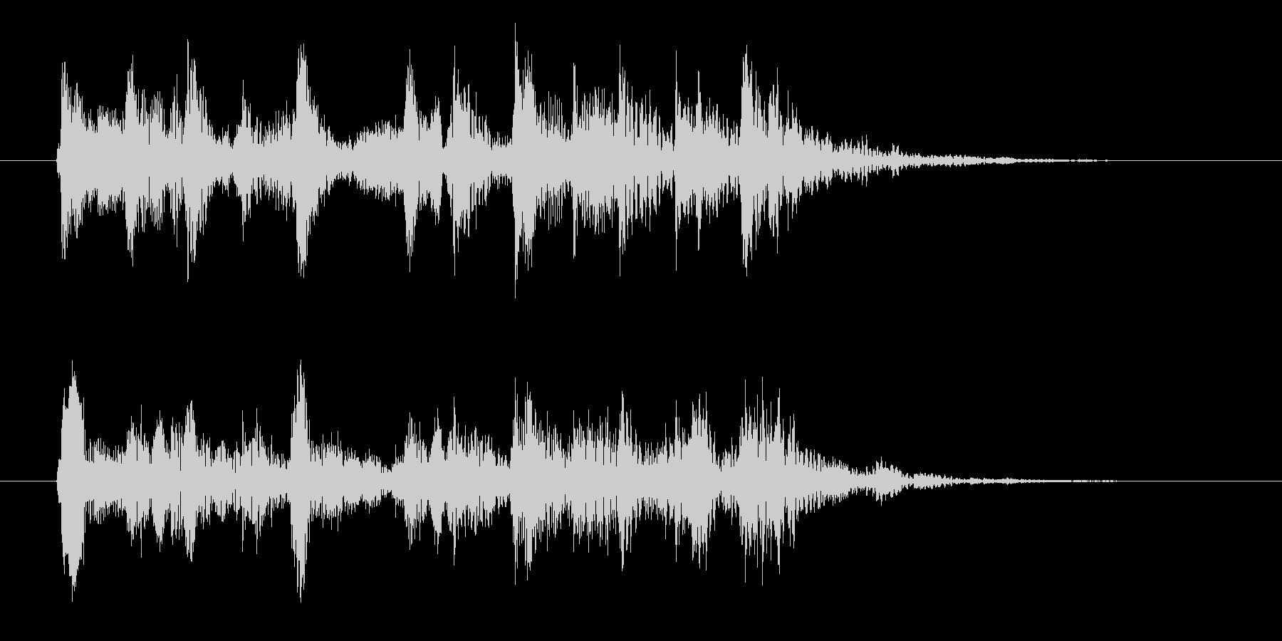コミカルなジングル ピチカート 3秒の未再生の波形