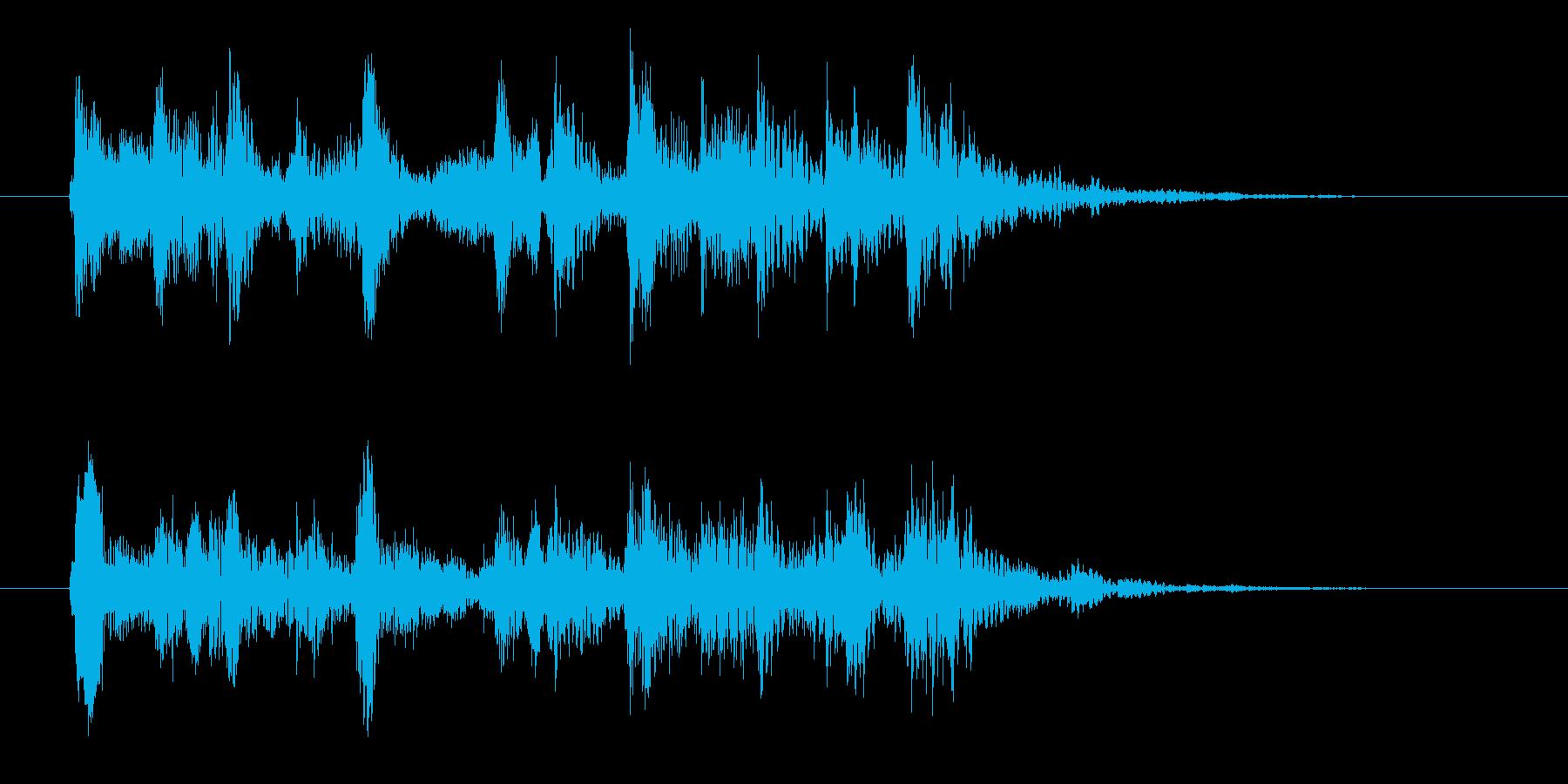 コミカルなジングル ピチカート 3秒の再生済みの波形