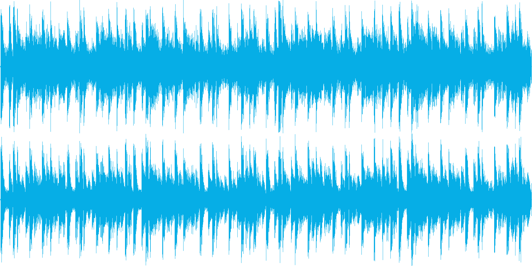 空間的な音響を駆使したループ楽曲です。の再生済みの波形