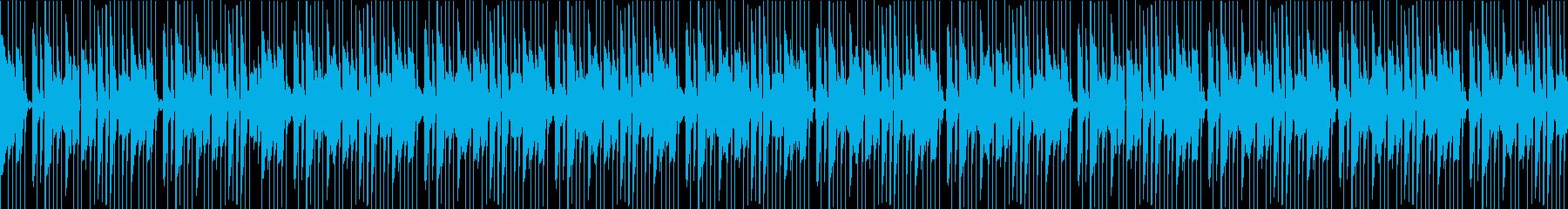 シンセのディレイが程よく効いたDUBの再生済みの波形