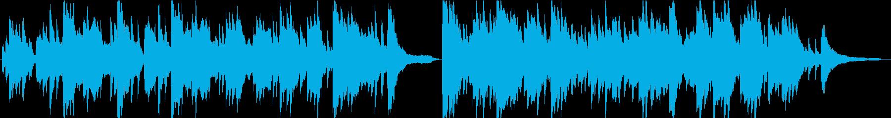 穏やかで優しいBGMの再生済みの波形