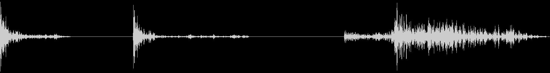 インパクト、ミュート、タイト、3バ...の未再生の波形