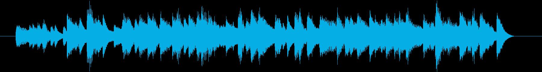 JAZZYで心弾むお洒落なピアノジングルの再生済みの波形