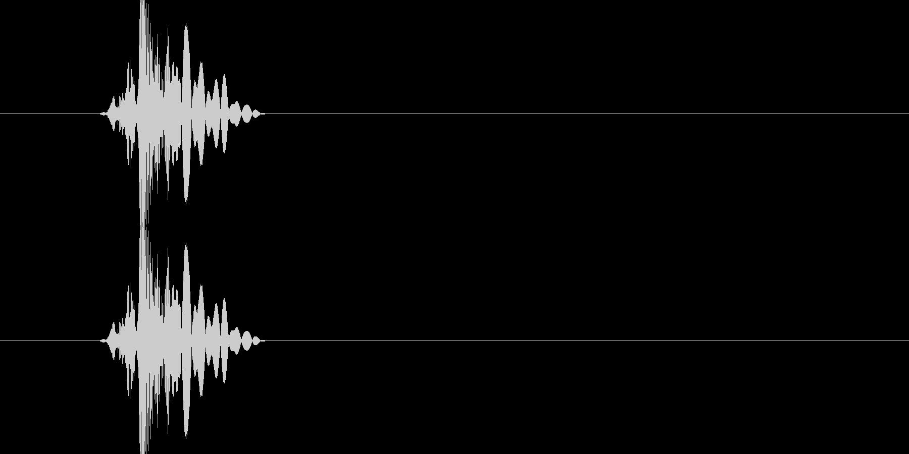 顔への短いスラップの未再生の波形