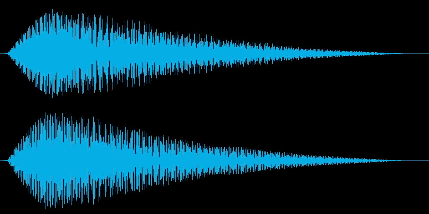 ホラー系アタック音66の再生済みの波形