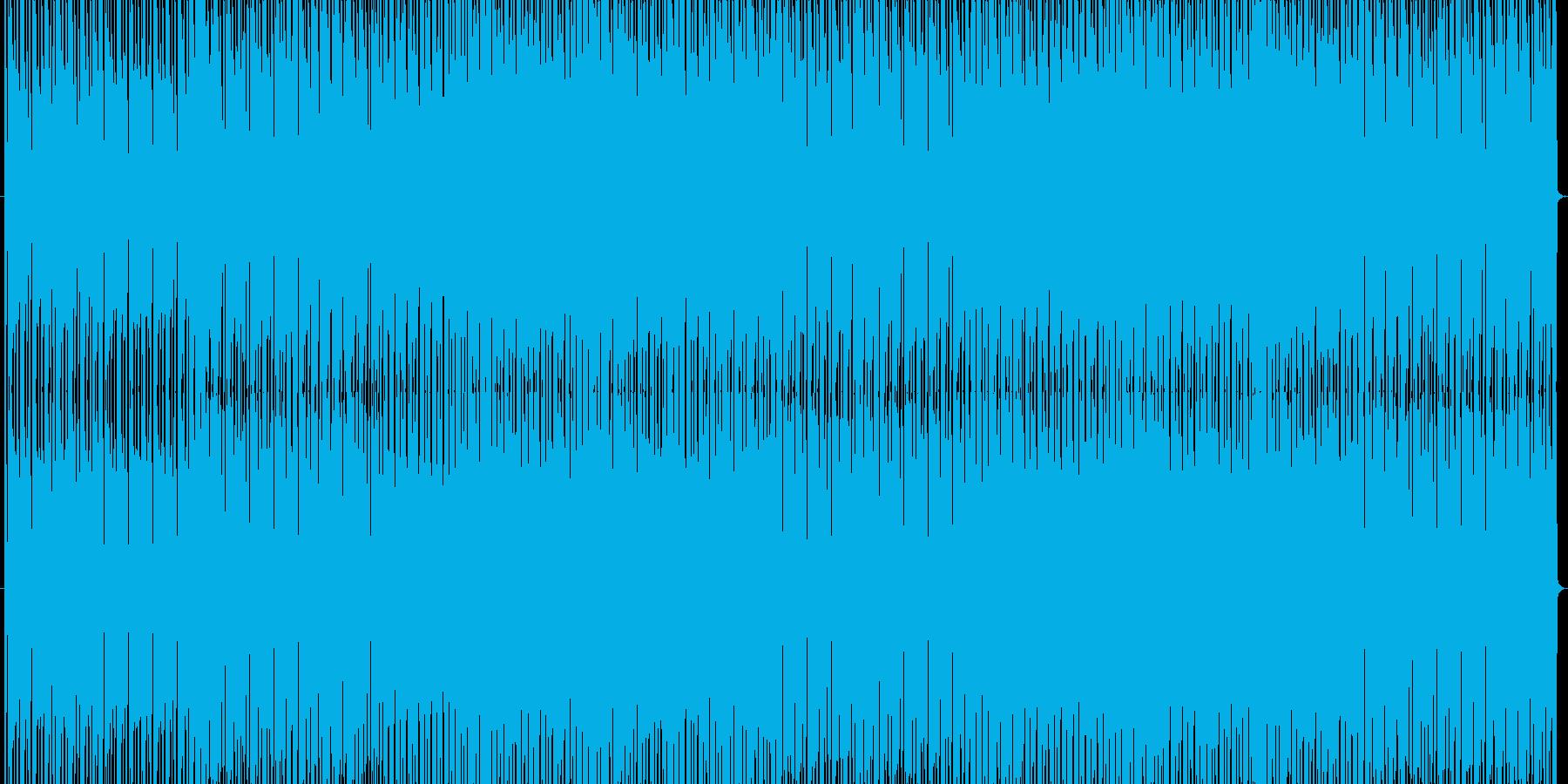 ピコピコしたパズルゲーム風テクノポップの再生済みの波形