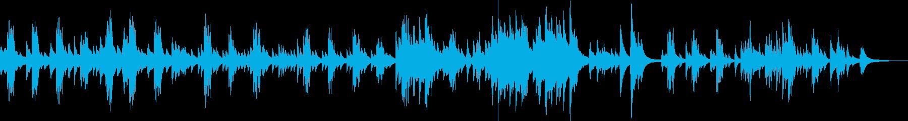 悲しくてかっこいいピアノソロ曲の再生済みの波形