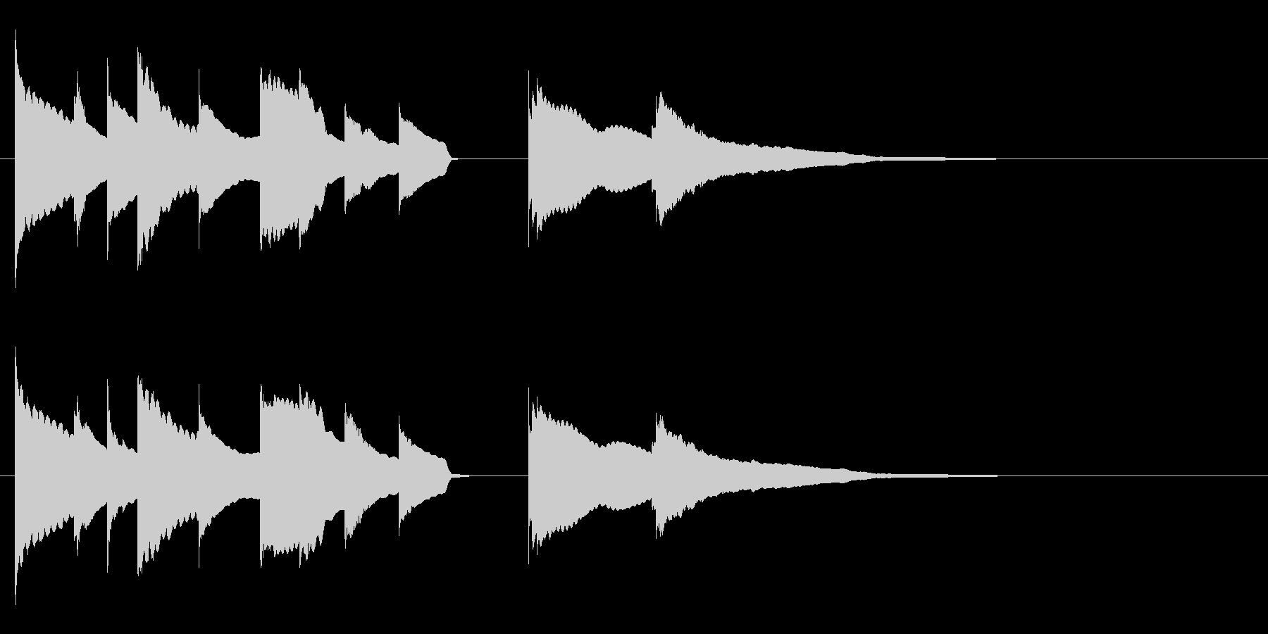 エンディング E. ピアノソロ の未再生の波形