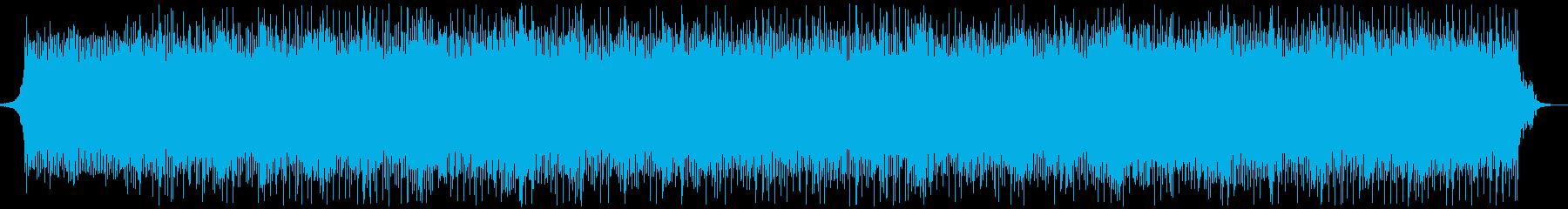 シンセベースメインのクールなハウス系楽曲の再生済みの波形
