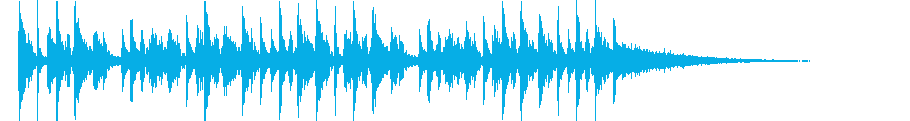 何かを作っている様な工作サウンドロゴの再生済みの波形