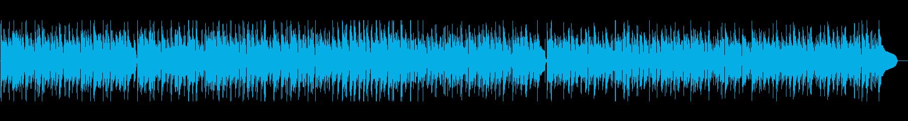 ギターとピアノが印象的なボサノバの再生済みの波形