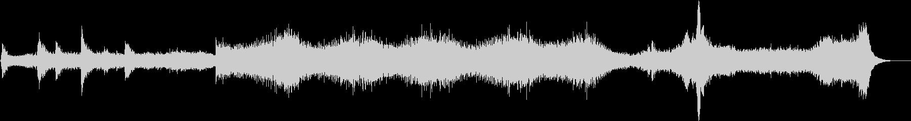 ホラーシーンにぴったりな雰囲気のBGMの未再生の波形