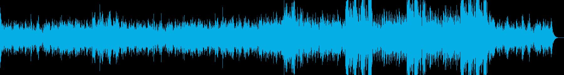 不穏な雰囲気のエスニックサウンドトラックの再生済みの波形